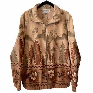 Vintage Traditions Earthy Fleece Sweater Jacket 12